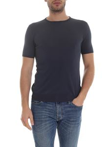 Boglioli - Knit t-shirt in blue
