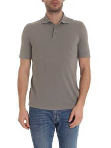 Lardini - Lightweight cotton polo in mud color