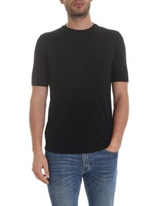 Lardini - Lightweight cotton T-shirt in black