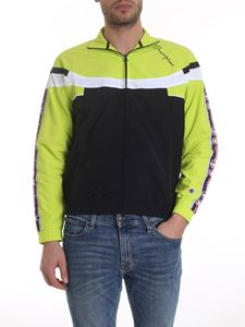 Champion - Branded jacket in black and neon yellow