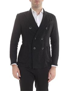 Barena - Double-breasted jacket Siroco Datolo in black