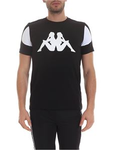 Kappa Kontroll - T-shirt in black with contrasting details