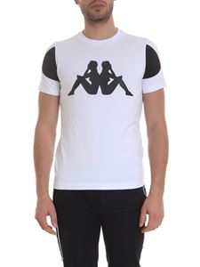 Kappa Kontroll - Rubberized logo T-shirt in white