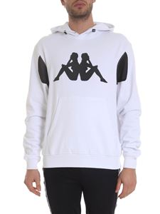 Kappa Kontroll - Hoodie in white with contrasting details