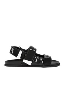 Valentino - VLTN sandals in black