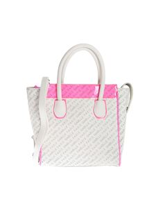 Gaelle Paris - Monogram handbag in white and fuchsia