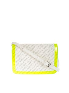 Gaelle Paris - Monogram shoulder bag in white and yellow