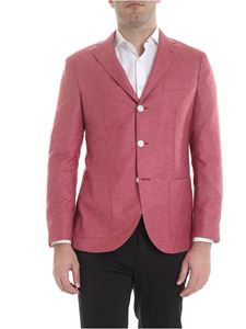 Barba - Textured fabric Jimmy jacket in red
