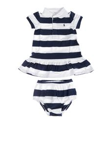 Ralph Lauren - Baby girl set in white and blue