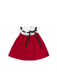 Fendi Jr - Dress in red and white with Fendi ribbon