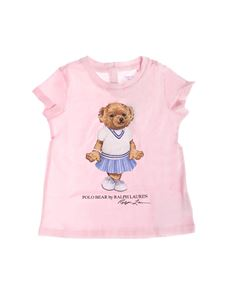 Ralph Lauren - Printed Polo Bear T-shirt in light pink
