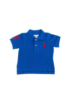 Ralph Lauren - Polo in blue with red maxi logo