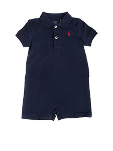 Ralph Lauren - Blue cotton rompersuit with logo