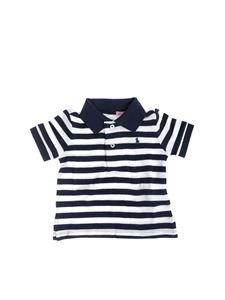 741c9bcc5 Baby-girl Polo shirts. Ralph Lauren - Striped polo in blue and white with  logo