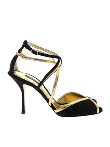 Prada - Heeled sandals in gold and black