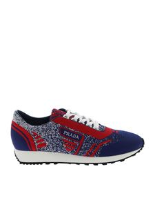 Prada - Knit 5 sneakers in blue and red