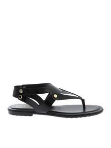 Tod's - Glossy sandals in black