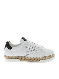 Tod's - Raffia sneakers in white