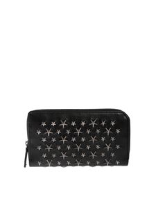 Jimmy Choo - Carnaby wallet in black with silver stars