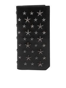Jimmy Choo - Black Cooper wallet with silver stars