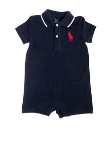 Ralph Lauren - Blue jumpsuit with red logo