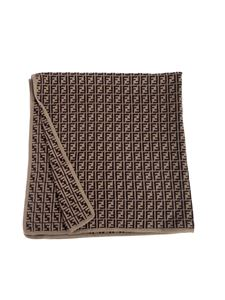 Fendi Jr - FF cashmere and cotton blanket in tobacco color