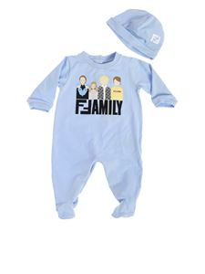 Fendi Jr - Baby boy set in blue jersey