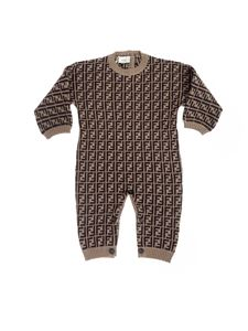 Fendi Jr - Bunx FF coverall in tobacco color