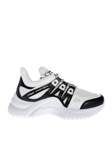 Comme des Fuckdown - Fabric and leather sneakers in black and white