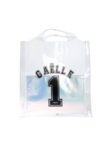 Gaelle Paris - Gaelle 1 printed shopping bag in transparent PVC