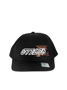 Heron Preston - Printed baseball hat in black with embroidery