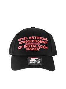 Marcelo Burlon - Warning Starter cap in black