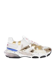 Valentino - Sneakers in white and gold with mirrored details