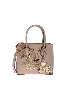 Michael Kors - Mercer medium bag in leather with butterflies
