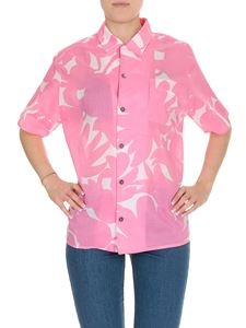 Marni - Floral printed shirt in pink cotton