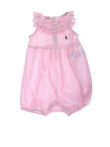 Ralph Lauren - Vichy romper in pink and white