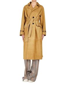 Golden Goose Deluxe Brand - Elle coat in beige leather