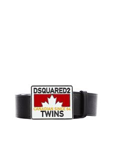 Dsquared2 - Dsquared2 Twins belt in black leather
