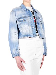 Dsquared2 - Maxi Jean jacket in light blue