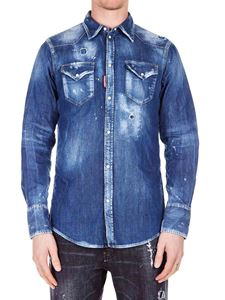 Dsquared2 - Shirt in blue denim