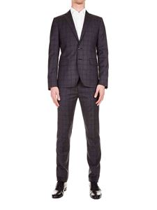 Dsquared2 - Checked wool suit in gray