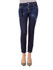 Dsquared2 - Runway Straight Cropped Jeans in blue