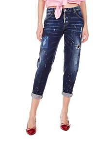 Dsquared2 - Hockney cropped jeans in blue