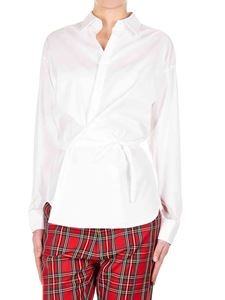 Dsquared2 - Wrap shirt in white cotton