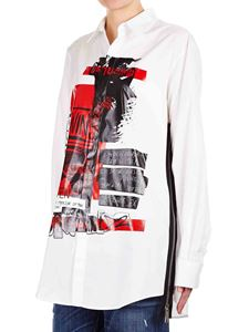 Dsquared2 - Printed oversized shirt in white