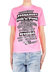 Dsquared2 - Dsquared2 printed t-shirt in neon pink