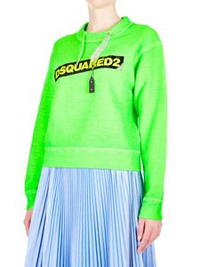 Dsquared2 - Neon green sweatshirt with chain drawstring