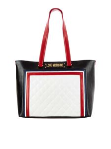 Love Moschino - Black and white shopper with quilted detail