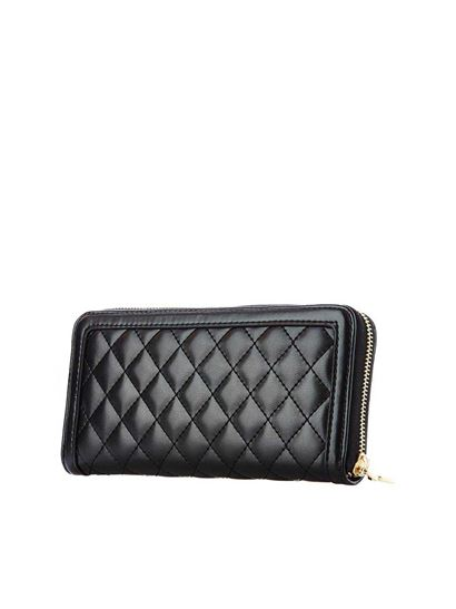 2d6d94ddbd Love Moschino Spring Summer 2019 quilted soft wallet in black ...