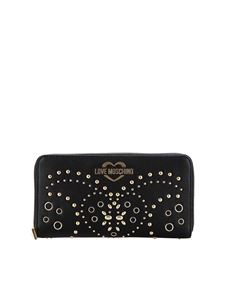 Love Moschino - Large wallet in black with studs